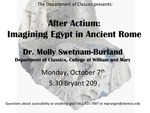 After Actium: Imagining Egypt in Ancient Rome by Molly Sweatnam-Burland