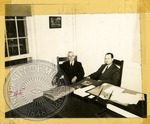 Former Chancellor Alfred Butts and Chancellor J.D. Williams by J. R. Cofield