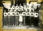 Group photograph of students in Ole Miss sweaters by J. R. Cofield