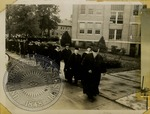Ole Miss professors walking to graduation by J. R. Cofield