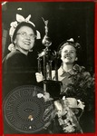 Miss America contestant wth trophy by J. R. Cofield