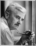William Faulkner with pipe by Richard B. Crowder