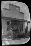 John Westley Thomas Faulkner stopping at a general store on the way to Memphis. Original small print by Unknown