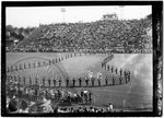 Ole Miss marching band on the football field, image 1 by J. R. Cofield