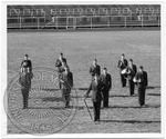 ROTC band in a field by J. R. Cofield