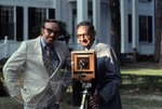 Portrait of Colonel J. R. and Jack Cofield with camera, image 15 by Walt Mixon