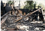 Building destruction after fire, image 3 by J. R. Cofield