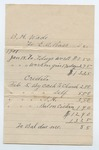 Invoice for services rendered by E.A. Ross for B. H. Wade, 18 January 1901 by Prospect Hill Plantation