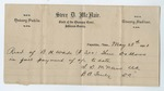 Receipt for three dollars, 28 May 1901 by Henry Marx and Sons