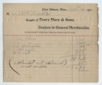 Receipt from Henry Marx and Sons, 16 October 1901 by Henry Marx and Sons