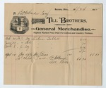 Receipt from Till Brothers for B. H. Wade, 24 March 1902 by Henry Marx and Sons