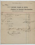 Receipt from Henry Marx and Sons, 19 November 1902 by Henry Marx and Sons