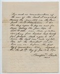 Contract between B. H. Wade and Hampton Shanks, 30 January 1890 by Prospect Hill Plantation