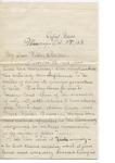 James E. Edmonds to Major & Mrs. J. E. Edmonds (27 October 1896) by James E. Edmonds