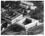 Aerial view of the Russell Senate Office Building, and Dirksen Senate Office Building. by Author Unknown