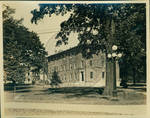 The right corner of Bryant Hall and the Croft Institute for International Studies by Author Unknown