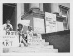 Students protesting censorship by Russell H. Barrett
