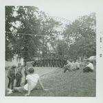 Students watching troops by W. Wert (William Wert) Cooper