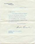 President Franklin D. Roosevelt to Senator James O. Eastland, 3 October 1944