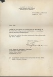 President Harry S. Truman to Senator James O. Eastland, 5 August 1957 by Harry S. Truman (1884-1972)