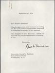 Bess Truman to Senator James O. Eastland, 17 September 1974