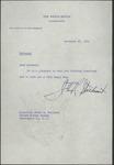 John R. Steelman to Senator James O. Eastland, 26 November 1952