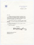 Vice President Hubert H. Humphrey to Senator James O. Eastland, 15 September 1965 by Hubert H. (Hubert Horatio) Humphrey (1911-1978)