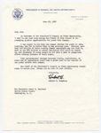 Vice President Hubert H. Humphrey to Senator James O. Eastland, 28 June 1968 by Hubert H. (Hubert Horatio) Humphrey (1911-1978)
