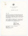 Vice President Hubert H. Humphrey to Senator James O. Eastland, 19 September 1968 by Hubert H. (Hubert Horatio) Humphrey (1911-1978)