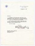 Vice President Hubert H. Humphrey to Senator James O. Eastland, 17 September 1965 by Hubert H. (Hubert Horatio) Humphrey (1911-1978)