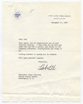 Vice President Hubert H. Humphrey to Senator James O. Eastland, 17 November 1966 by Hubert H. (Hubert Horatio) Humphrey (1911-1978)