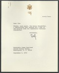 Lyndon B. Johnson to Senator James O. Eastland, 6 September 1972 by Lyndon B. (Lyndon Baines) Johnson (1908-1973)