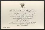 President and Mrs. Johnson to Senator and Mrs. James O. Eastland, 7 October 1965