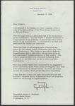 President Lyndon B. Johnson to Senator James O. Eastland, 17 January 1966 by Lyndon B. (Lyndon Baines) Johnson (1908-1973)