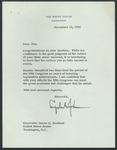 President Lyndon B. Johnson to Senator James O. Eastland,12 November 1966 by Lyndon B. (Lyndon Baines) Johnson (1908-1973)