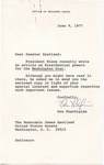 Ken Khachigian to Senator James O. Eastland, 9 June 1977