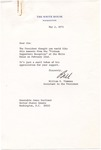 William E. Timmons to Senator James O. Eastland, 2 May 1973 by William Evan Timmons