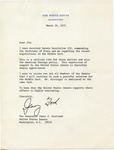 President Gerald R. Ford to Senator James O. Eastland, 29 March 1975 by Gerald R. Ford