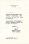 William T. Kendall to Senator James O. Eastland, 6 December 1975