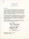 Max L. Friedersdorf and Michael J. Farrell to 'Dear Senator,' 22 Spetember 1975