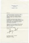 President Gerald R. Ford to Senator James O. Eastland, 19 December 1975