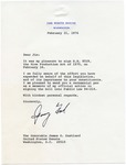 President Gerald R. Ford to Senator James O. Eastland, 21 February 1976 by Gerald R. Ford