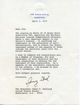 President Gerald R. Ford to Senator James O. Eastland, 1 April 1976 by Gerald R. Ford