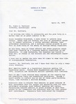 President Gerald R. Ford to Senator James O. Eastland, 26 April 1976 by Gerald R. Ford