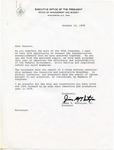 James T. McIntyre to 'Dear Senator,' 12 October 1978 by James T. McIntyre