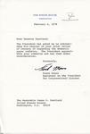 Frank Moore to Senator James O. Eastland, 6 February 1978 by Frank Moore