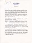 President Jimmy Carter to Senator James O. Eastland, 12 May 1978 by Jimmy Carter