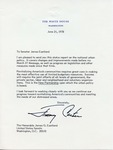 President Jimmy Carter to Senator James O. Eastland, 21 June 1978 by Jimmy Carter