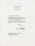 President Jimmy Carter to Senator James O. Eastland, 5 August 1978 by Jimmy Carter