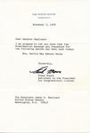 Frank Moore to Senator James O. Eastland, 7 November 1978 by Frank Moore